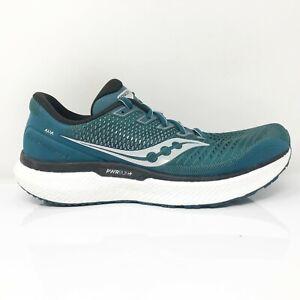 Saucony Mens Triumph 18 S20595-20 Blue Sliver Running Shoes Lace Up Size 8.5