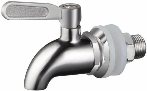 304 Edelstahl Wasserspender Getränkespender Zapfhahn Ersatzzapfen 12mm