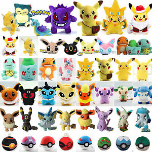 Pokemon-Go-Pikachu-Eevee-Squirtle-Pokeball-Plush-Soft-Toy-Animal-Stuffed-Doll