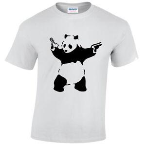 Kinder-Panda-Banksy-T-Shirt-lustig-Urbane-Kunst-Graffiti-Hipster-Kinder