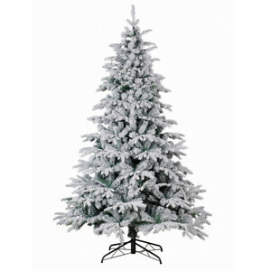 PE&PVC 1400 Tips 8FT Artificial Christmas Trees Flocked ...