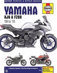 2009 2015 yamaha fz6 fz6r haynes repair manual 5889 ebay rh ebay com 2009 Yamaha FZ6R yamaha fz6 s2 2009 manual