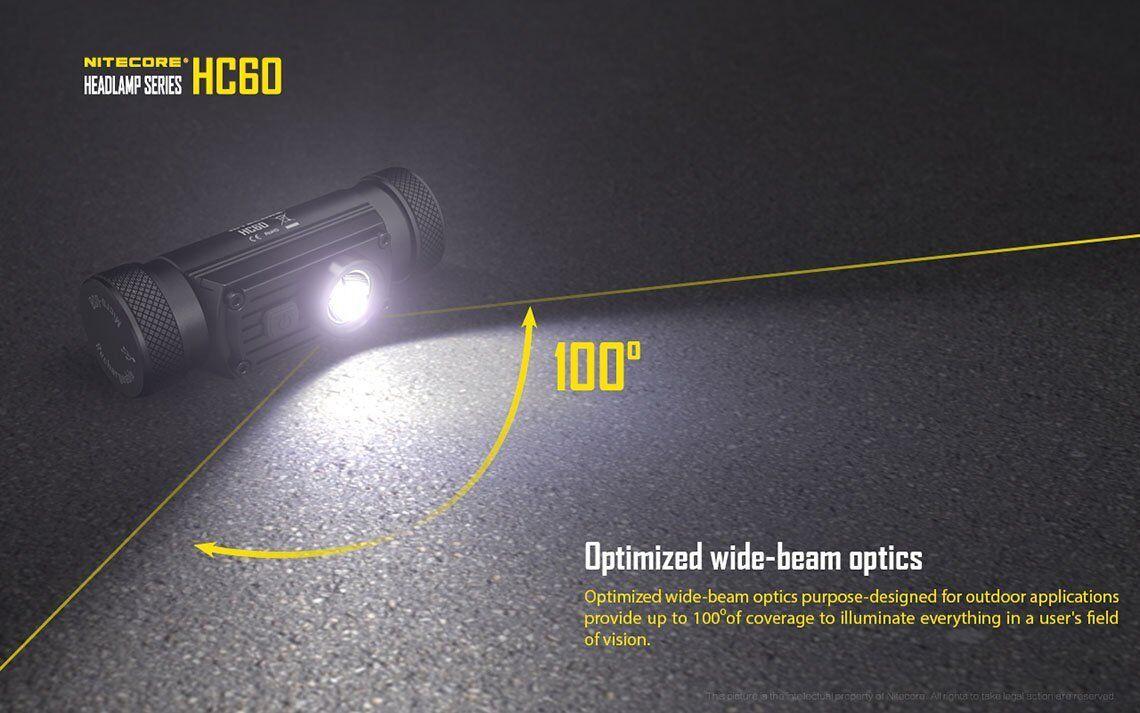 Nitecore HC60 XM-L2 U2 Rechargeable Rechargeable Rechargeable Headlamp 1000Lm w/ NU10 Wide angle Headlamp 6ce4d7