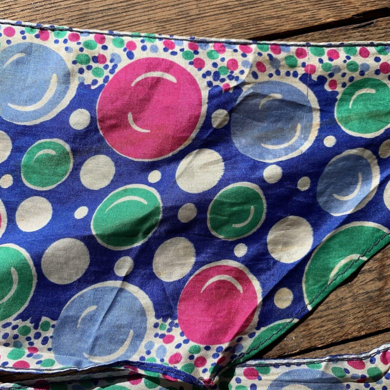 Vintage 60s Pop Art Bubbles Neck Scarf - image 4