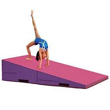 "Large Incline Mat Folding Slope Wedge Cheese Tumbling Gymnastics Mat 60""x30""x15"""