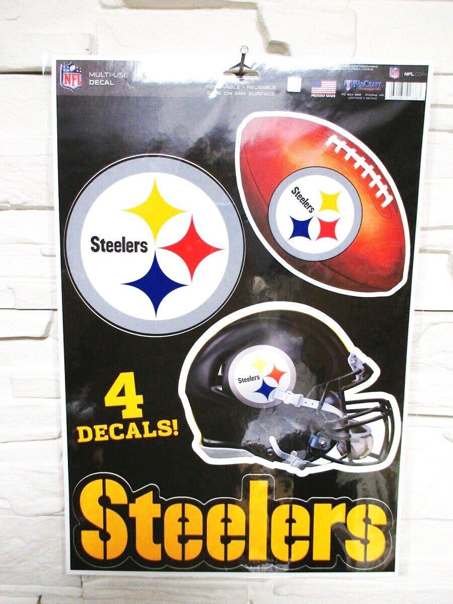 Pittsburgh Steelers 4 Pegatina Calcomanía Insignias Set NFL Fútbol Nuevo