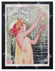 Historic-Absinthe-Robette-1890s-Advertising-Postcard