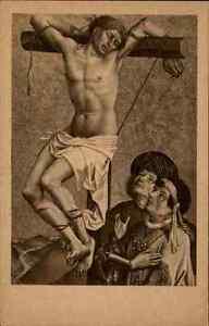 1940-alte-Postkarte-Kunst-Institut-Frankfurt-a-Main-034-Gesinas-am-Kreuz-034