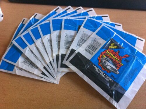 NO TEARS !! Back To the Future 1989 Part 2-10x Wax Pack Card Wrappers