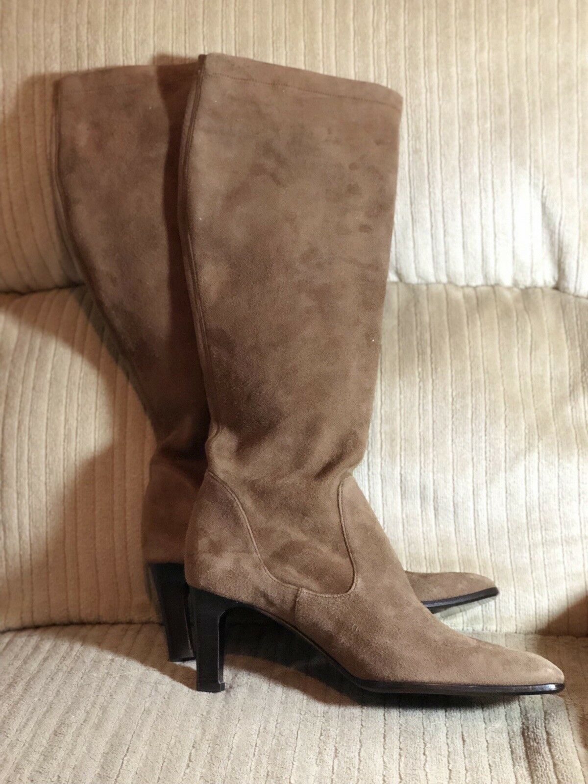 NEW- Cole Haan- Brown Suede Slouch Knee-high Boots- 2 3 4  Heel- Sz 6.5 B