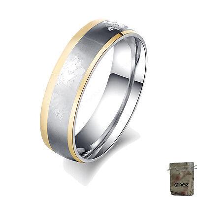 Hart Arbeitend Original Enez Ring Trauring Ehering Edelstahlring Gr: 7 (17,2mm) B: 6mm R2618 + Kaufen Sie Immer Gut