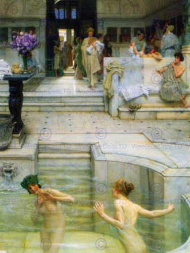 LAWRENCE ALMA TADEMA FAVORITE TRADITION OLD MASTER ART PAINTING PRINT 1829OMB