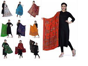 Women-039-s-Cotton-Dupatta-Stoles-Mirror-Work-Ethnic-Dupatta-Free-Shipping