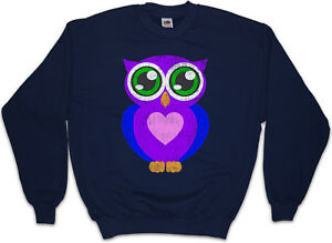 Details about COMIC OWL Sweatshirt Pullover Eule Cartoon Cute Hipster Indie Electro Tattoo