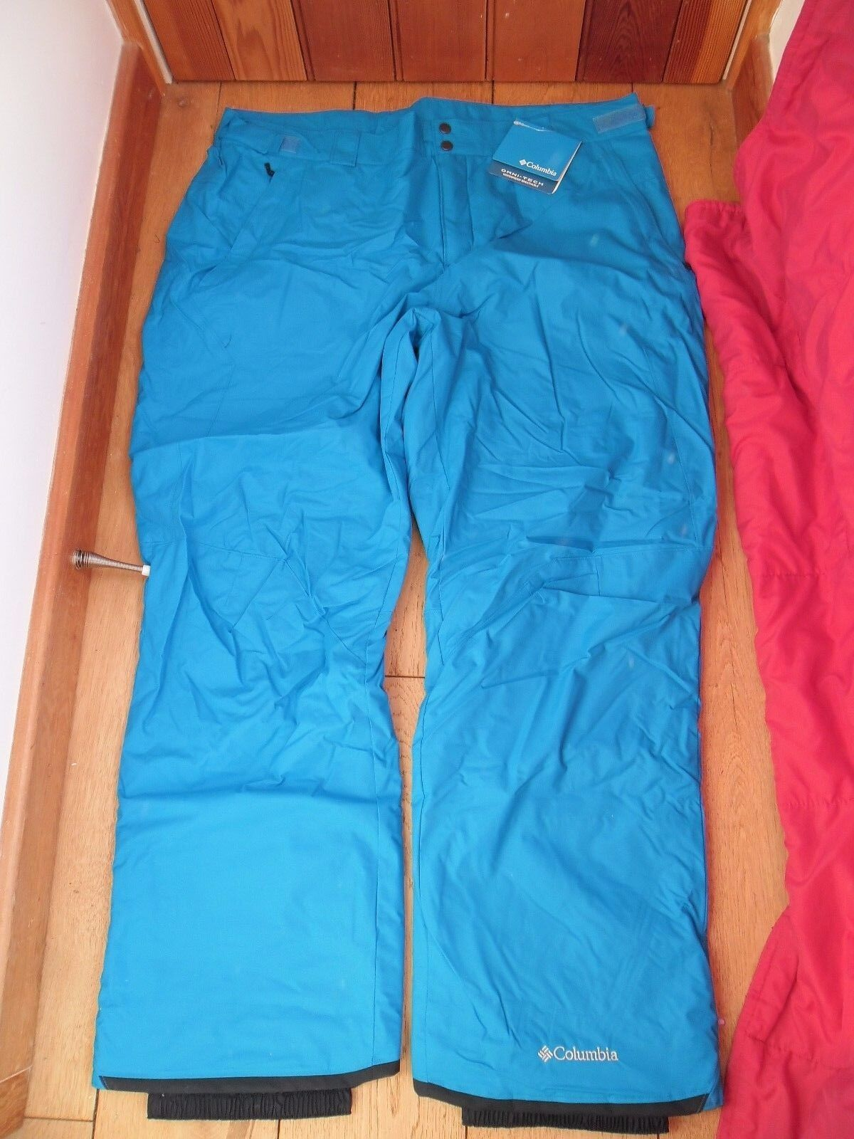 COLUMBIA TECH BRIGHT Blau OMNI TECH COLUMBIA WATERPROOF BREATHABLE THERMAL SKI BOARD PANTS XXL c77e54