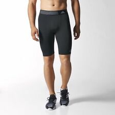 """Adidas Techfit Baselayer Short Tight 9"""" Black Size Small S Compression"""