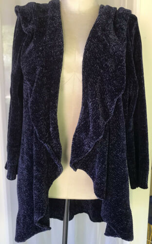 Romans 1X 22/24 Navy Chenille Cardigan Open Front