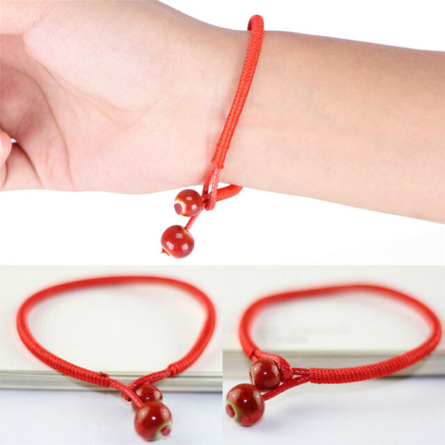 Lucky Bracelets Bead Red String Ceramic Woven Bracelet Charm Handmade Jewelrytb