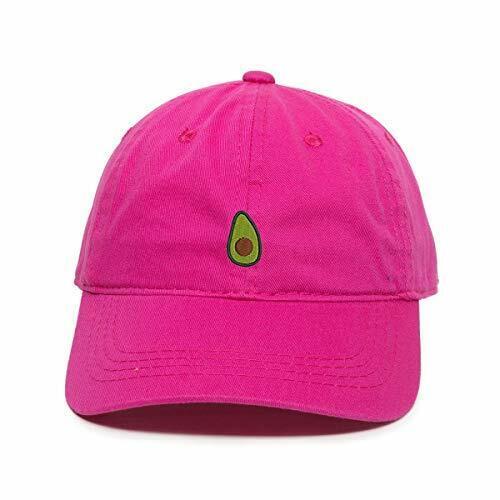 Avocado Guacamole Emoji Baseball Cap Embroidered Cotton Adjustable Dad Hat