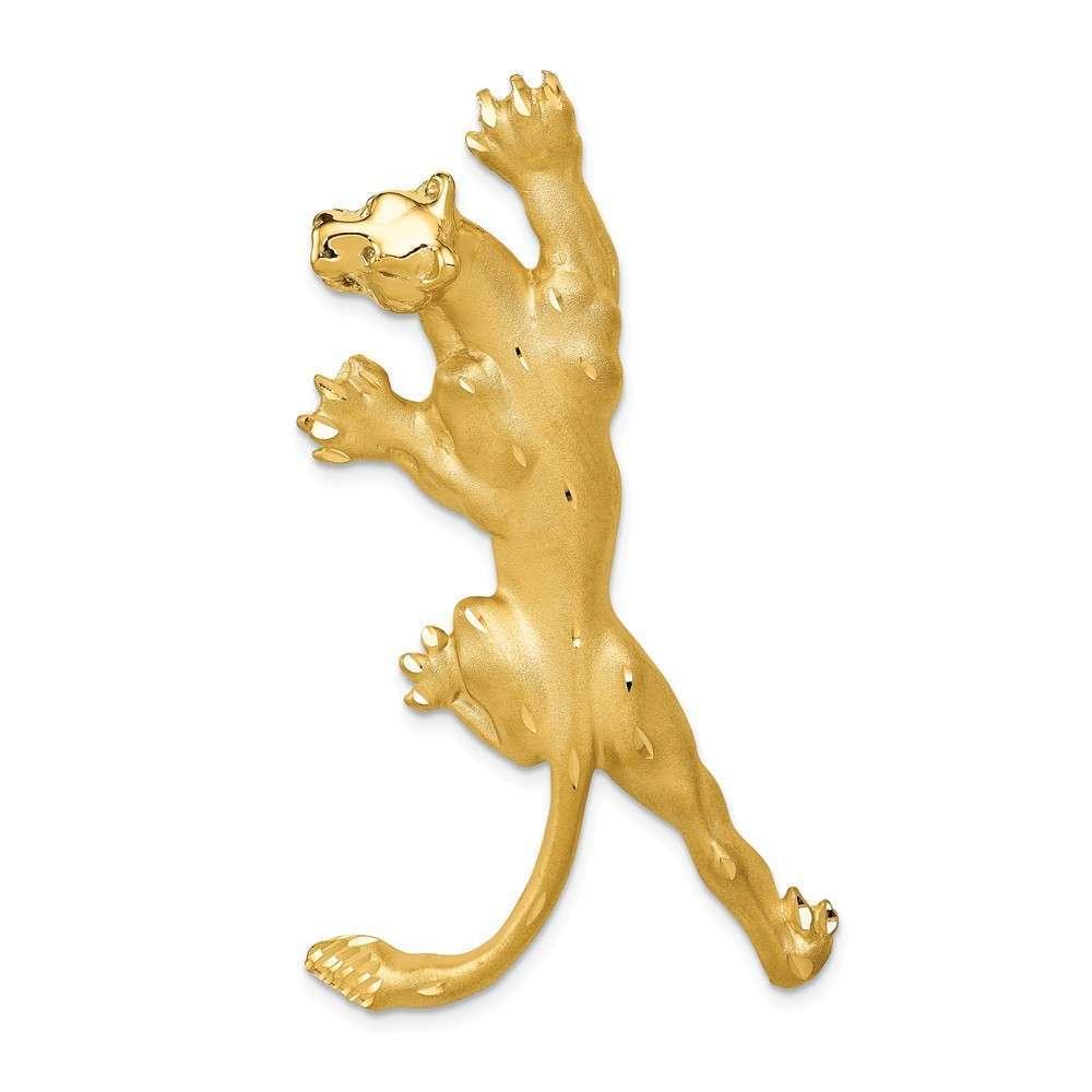 14K Yellow gold Panther Pendant C90
