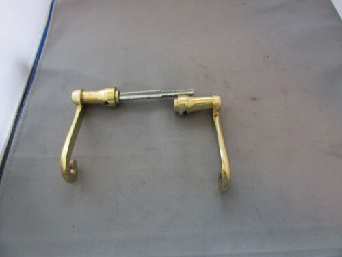 Brass Swirl Door Handle Lever Set