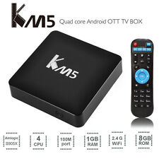 KM5 Smart TV Box Quad Core Amlogic S905X Android 6.0 2.4G WiFi 17.0 Player