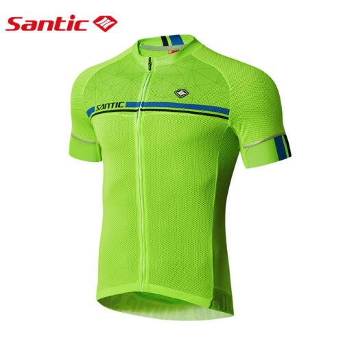 Santic Men MTB Short Sleeve Cycling Short Jersey Sleeve Cuff Road Bike 2 Colour