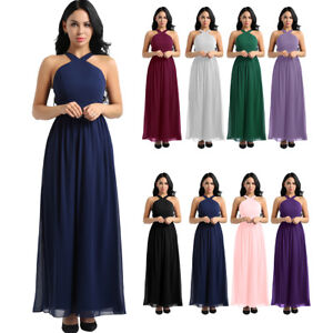73aedd6ae1 Image is loading Women-Formal-Wedding-Bridesmaid-Long-Dress-Evening-Party-