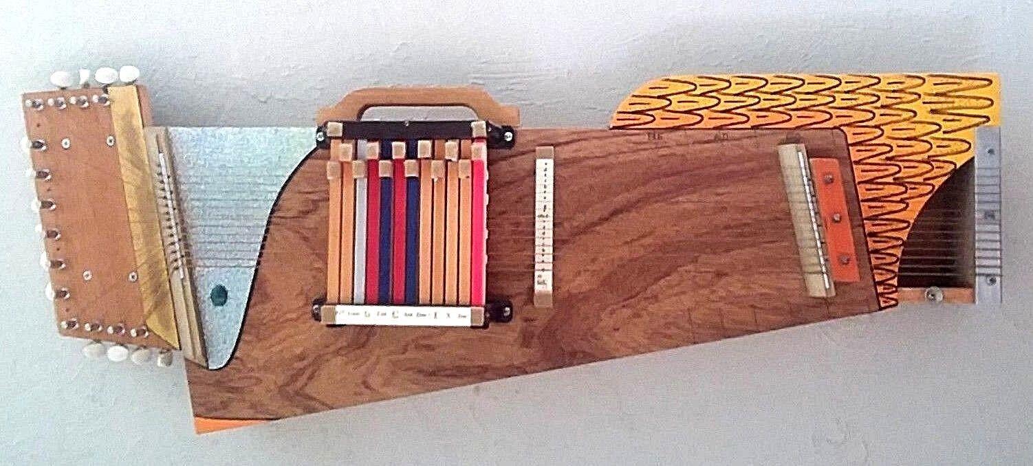 Nightingale  Musical Folk Art  Unique Autoharp (original design)