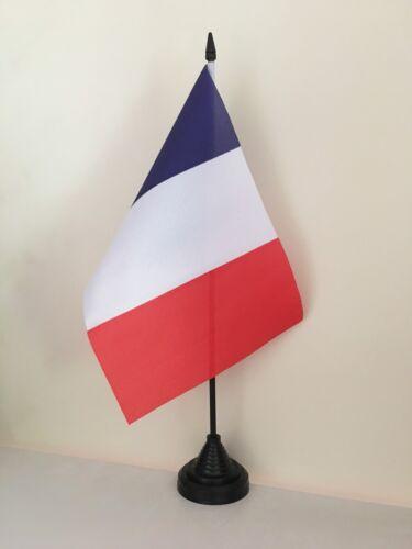 """FRANCE TABLE FLAG 9/"""" X 6/"""" 22.5cm x 15cm flags FRENCH FRANCAIS"""