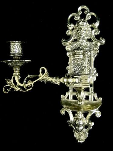Bougeoir laiton Wandkerzenhalter Art Nouveau chandelier chandeliers