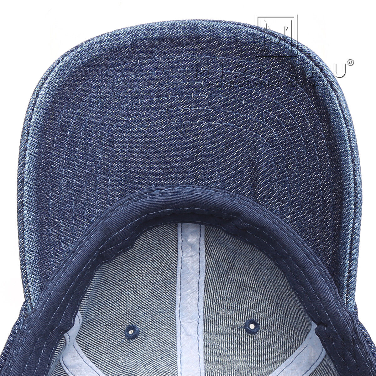MIRMARU Summer Casual Baseball 100% Cotton Denim Baseball Casual Cap Hat With Adjustable Strap. fc7600
