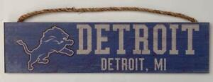 Detroit Lions Distressed Horizontal Wooden Sign (New) Canada Preview