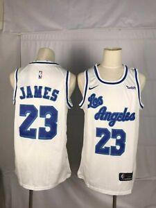 Details about Lakers #23 Lebron James White Swingman Throwback Sewn Jersey