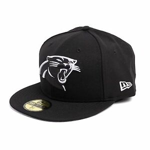New-Era-NFL-Carolina-Panthers-Casquette-Ajustee-Bonnet-Casquette-noir-93095
