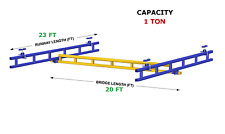 Gorbel Ceiling Mounted Bridge Crane 1 Ton Capacity Glcs 2000 20 23