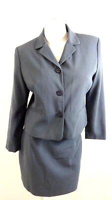 New Fashion Fairweather Womens Steel Blue Skirt Suit Size 10p Suits & Suit Separates