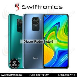 XIAOMI REDMI NOTE 9 3GB + 64GB / 4GB + 128GB UNLOCKED DUAL-SIM [ANDROID 10, MIUI 11 6.53 IPS LCD, DUAL 48,5MP, 5020MAH Mississauga / Peel Region Toronto (GTA) Preview