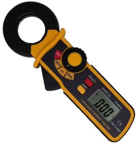 TEK775 AMECaL ST-9810 Mini AC Earth Leakage Current Clamp Meter Tester Equiv