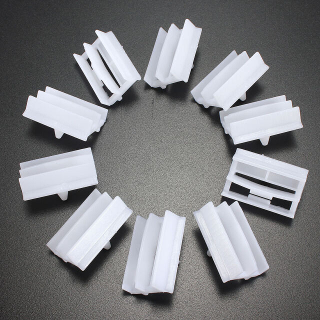 10pcs Plastic Exterior Sill Skirt Trim Clips For BMW 3 Series E36 E46 E90 E91