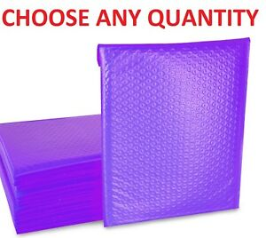 1000 #0 Purple 6x10 Poly Bubble Mailers Envelopes Padded Shipping mailing Bags