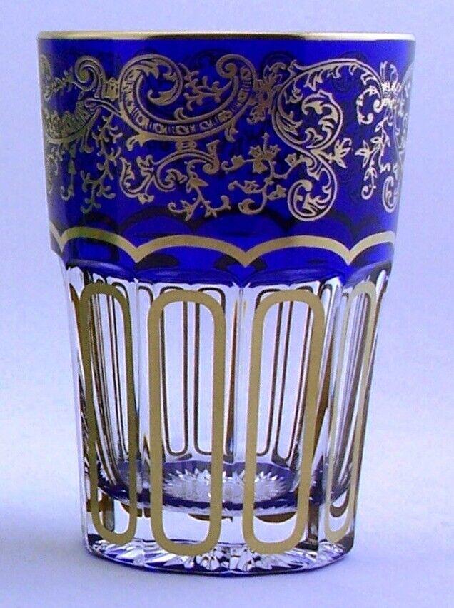 Teebecher de bleikristall AVEC FRANGES EN BLEU ET Cadeau Carton-AE 222