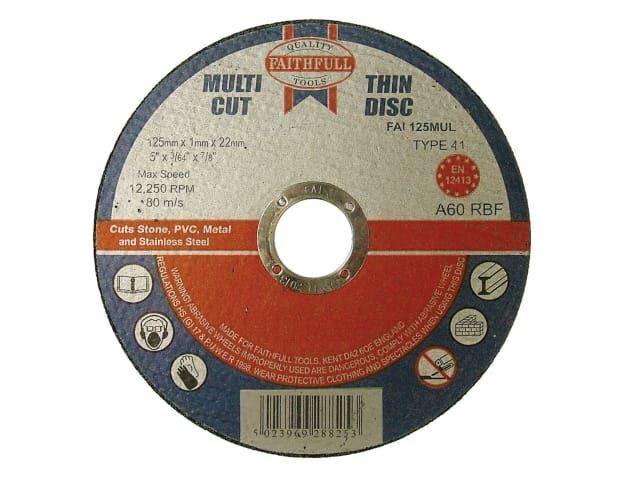 Fiel - Discos de corte de corte múltiple 125 x 1.0 x 22 mm (paquete de 10)