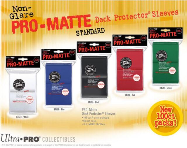 100 Ultra Pro Pro-Matte Mat ( 100ct )  Standard Size Sleeves Card Deck MTG 100