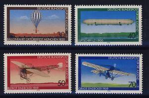 BUND-Nr-964-967-Jugend-Luftfahrt-postfrisch-Bleriot-Grade-Z-1-Ballonfahrt