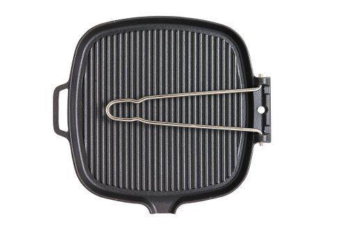Chasseur  lisse basea grillpan, carré, fil poignée 27 x 25cm