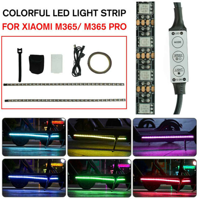 LED Strip Flashlight Lamp For Xiaomi M365 Electric Scooter Skateboard Safety 1pc