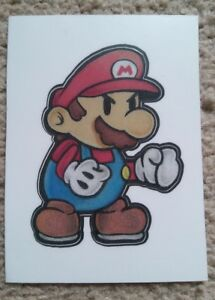 Details About Custom Hand Drawn Paper Mario Pencil Nintendo Anime Vinyl Stickers 3 5inches New