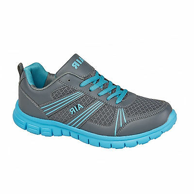 Para Hombre Deportiva Running formadores Casual Encaje Gimnasio caminar Chicos Zapatos Damas Chicos tamaño