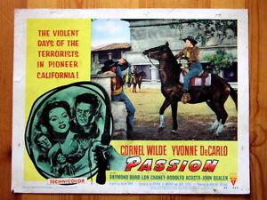 PASSION Original WESTERN Lobby Card CORNEL WILDE YVONNE DECARLO RAYMOND BURR - <span itemprop='availableAtOrFrom'>Llandudno, Conwy, United Kingdom</span> - PASSION Original WESTERN Lobby Card CORNEL WILDE YVONNE DECARLO RAYMOND BURR - Llandudno, Conwy, United Kingdom